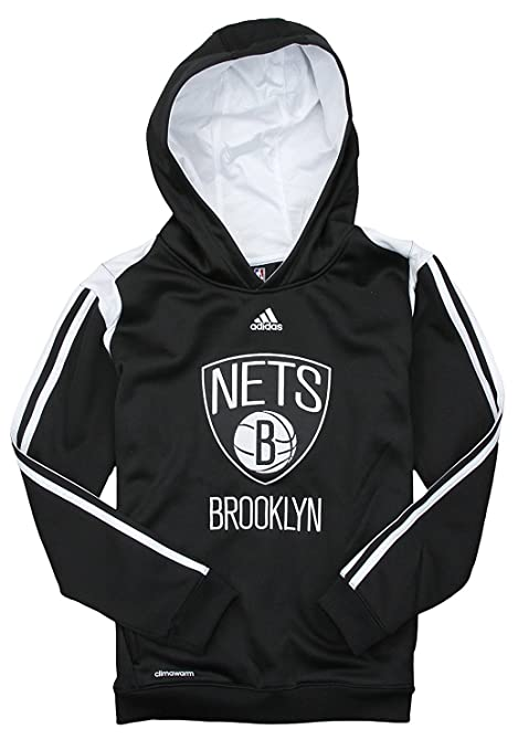 87a54ff4 adidas Brooklyn Nets NBA Big Boys On Court Hoodie - Black (Small (8)