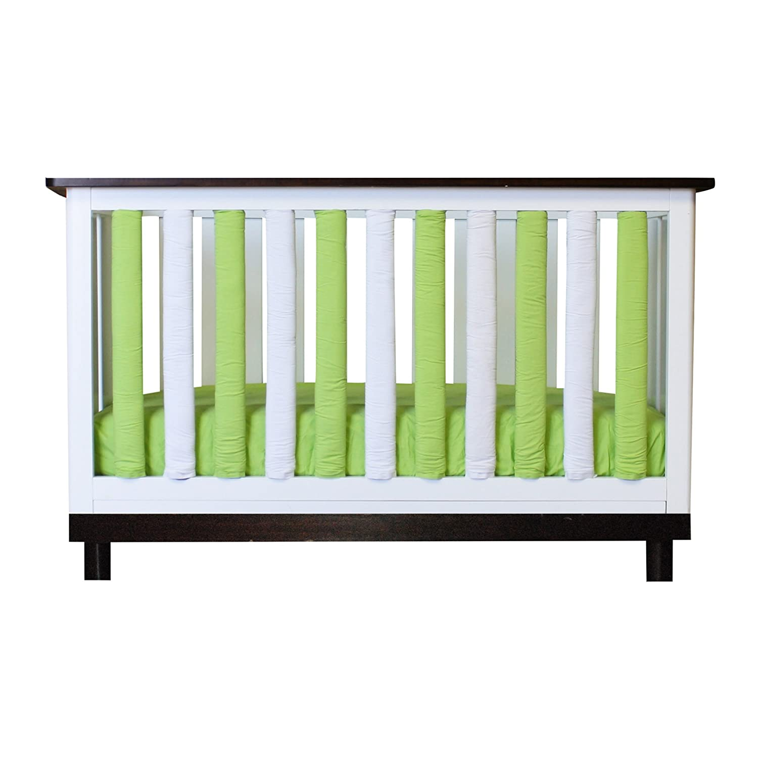 Pure Safety Vertical Crib Liners in Lime//White 38 Pack