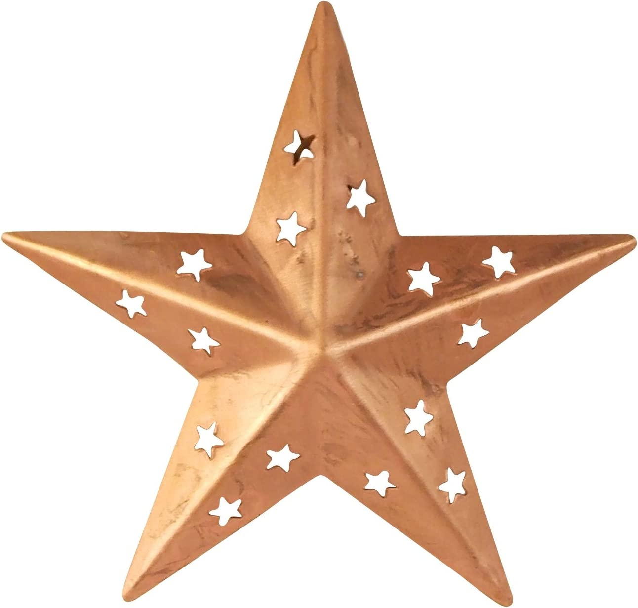 Silver Grey Xmas Copper Gold Metal Star 1x Distressed Hanging Iron Star