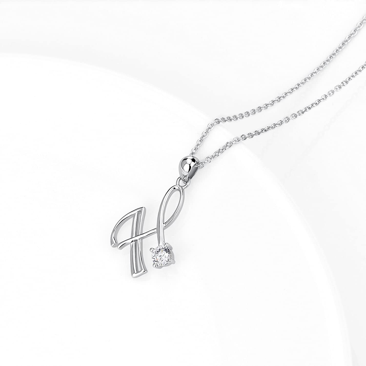 97f541cd68772c YFN Initial Necklace 925 Sterling Silver Letters 26 Alphabet Pendant  Necklace YFN Jewelry PYX0275