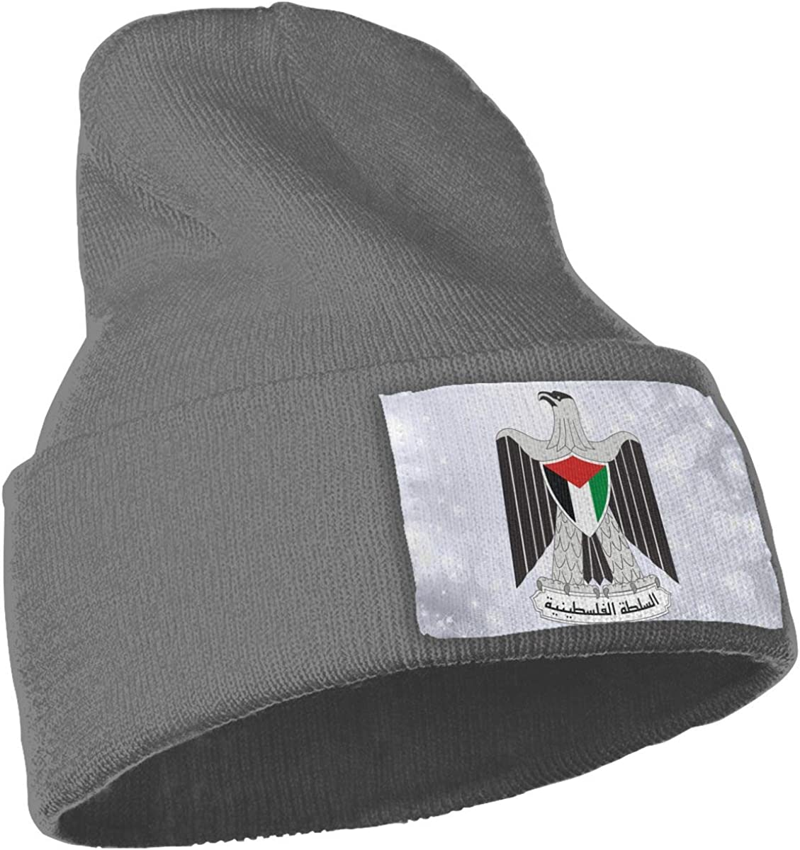 Coat of Arms of The Palestinian National Authority Hat for Men and Women Winter Warm Hats Knit Slouchy Thick Skull Cap