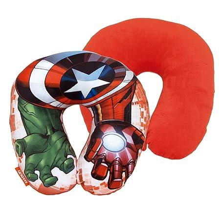 Spiderman Cojin Cuello Poly 33x33cm de Avengers, 33 cm