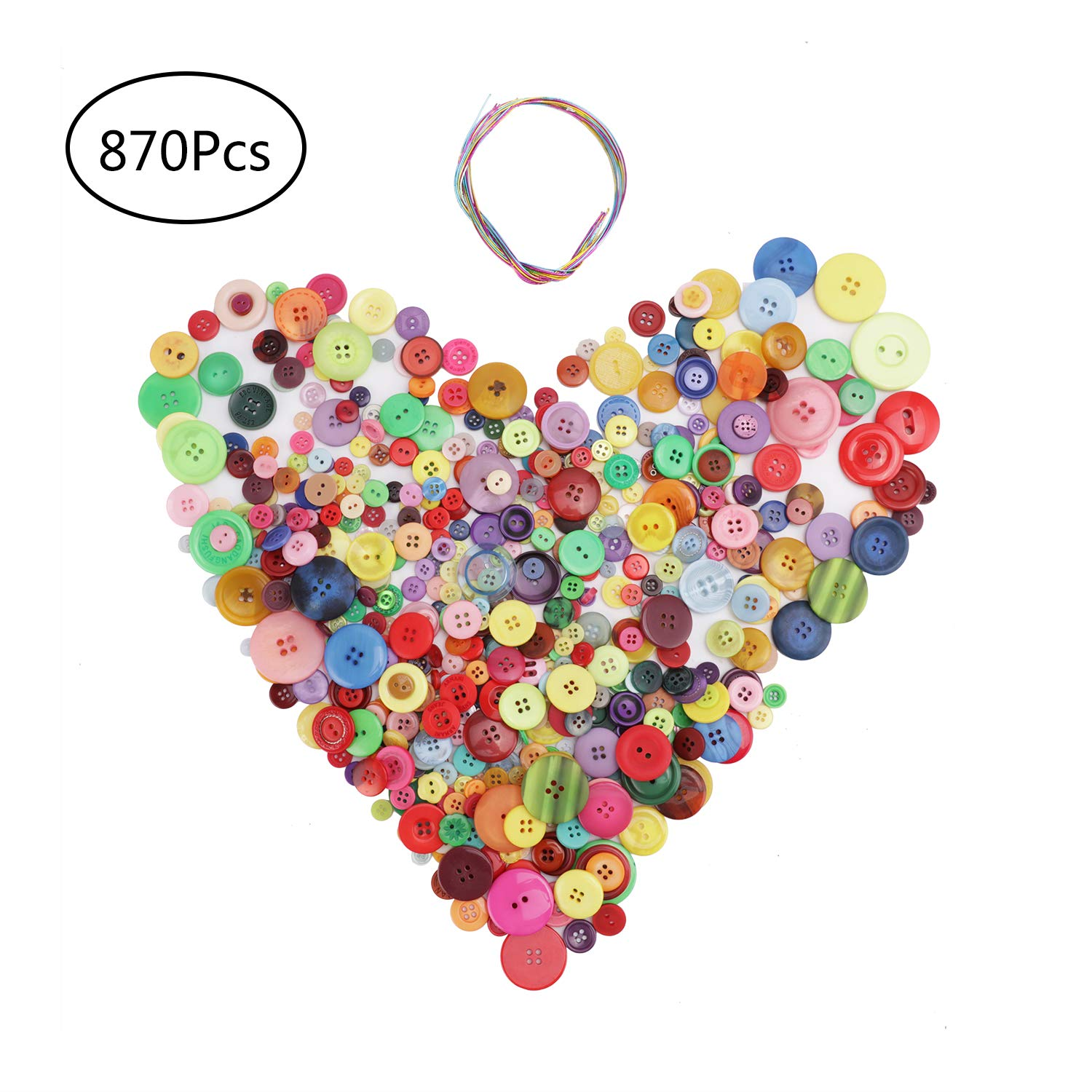 Sock Puppets BUMPER Pack of Craft Buttons Counting Crochet 1000g of Assorted Colours and Sizes Colour or Size Sorting Knitting Fantastic for all craft activities Collage