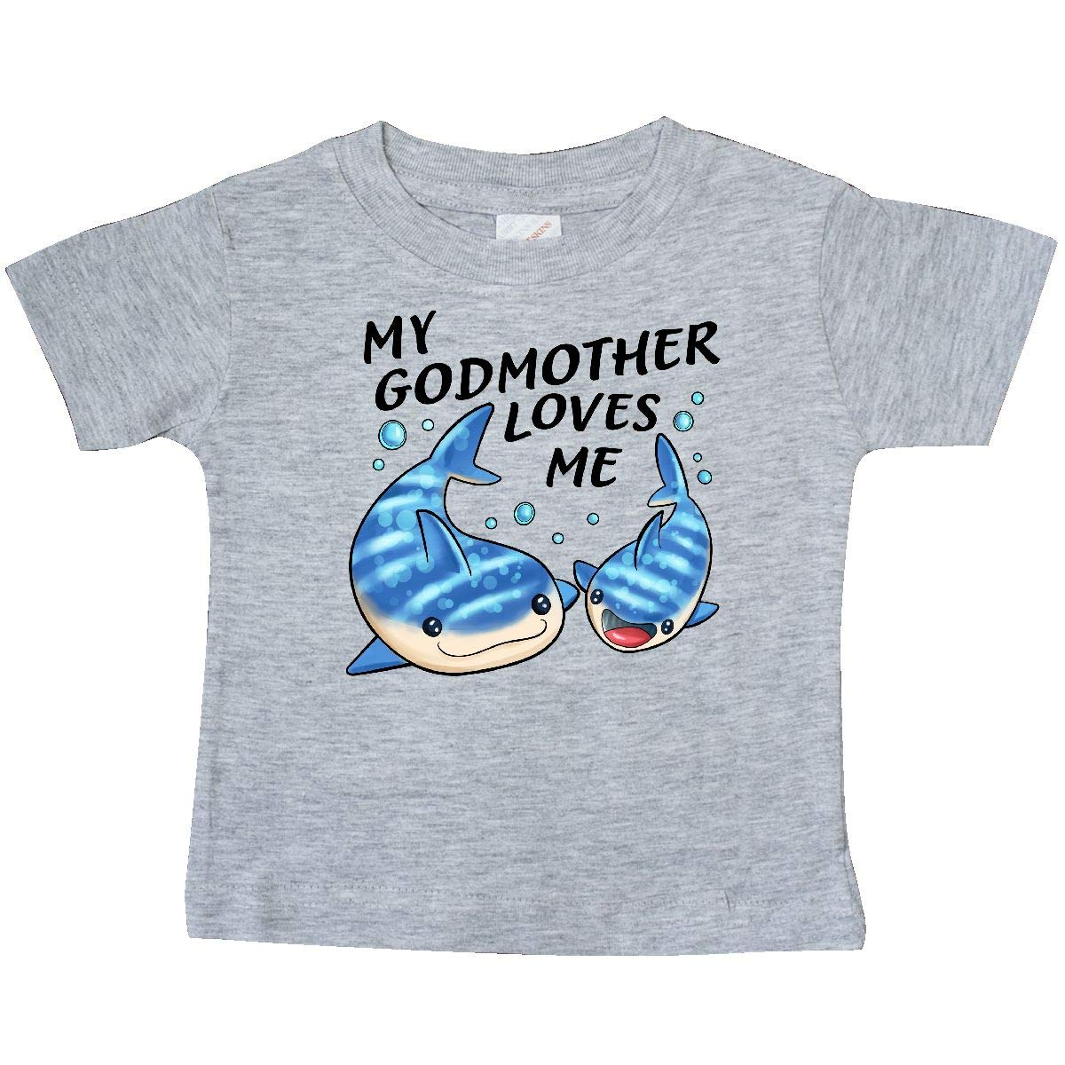 inktastic My Godmother Loves Me Whale Shark Baby T-Shirt