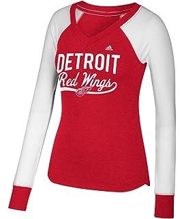 adidas Detroit Red Wings Women s NHL Puck Drop Dual Blend Long Sleeve T- Shirt c7db67872