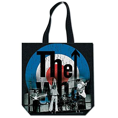 The Who Tote Bag Live On Stage Target Band Logo Zip Top Official Black