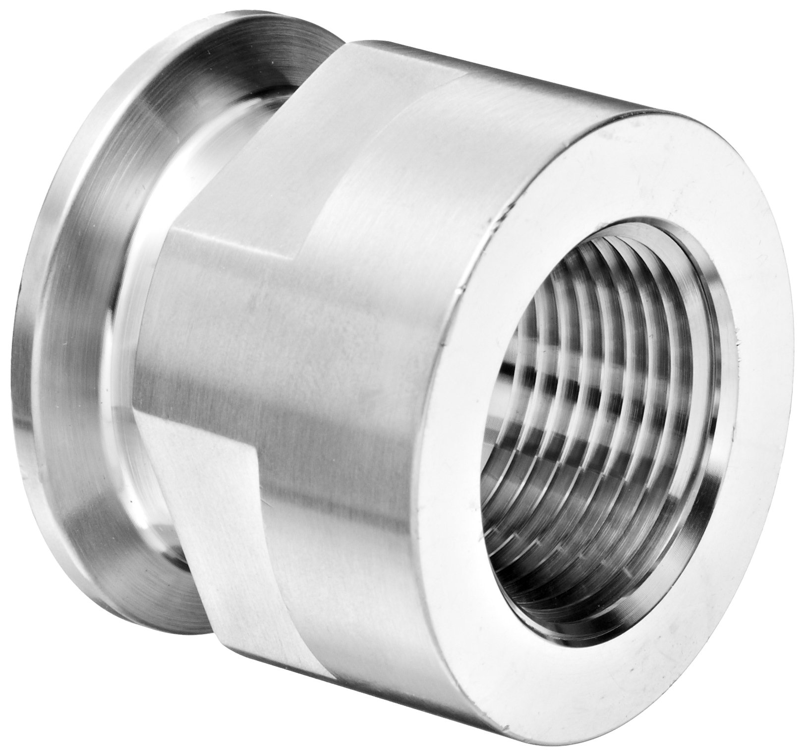 Dixon 22MP-G150100 Stainless Steel 304 Sanitary Fitting, Clamp Adapter, 1-1/2'' Tube OD x 1'' NPT Female