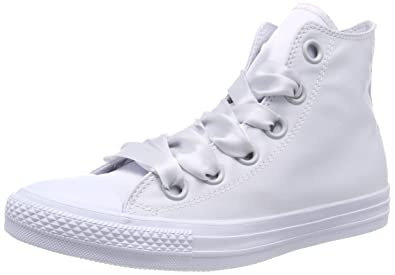 c24fa31afa4 Converse Women s CTAS Big Eyelets Pure Platinum Hi-Top Trainers