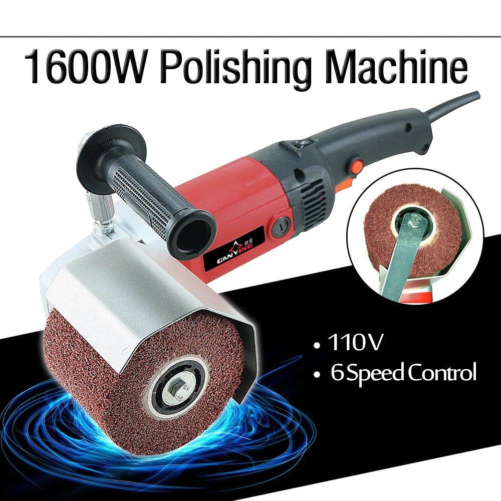 PROMOTOR 1600W Burnishing Polishing Machine 6 Speed Hand Held Polisher Sander Kit 110V