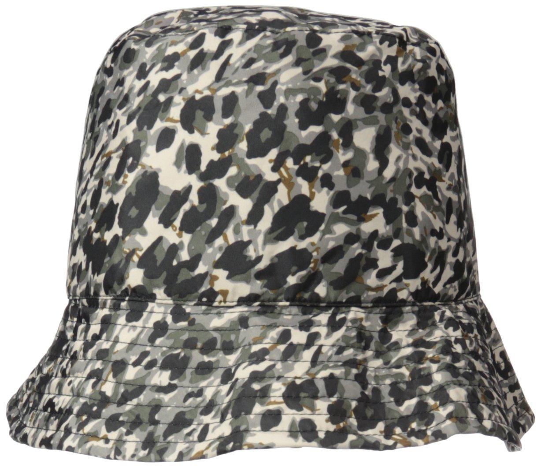 Nine West Women's Nylon Bucket Rain Hat, Animal, One Size