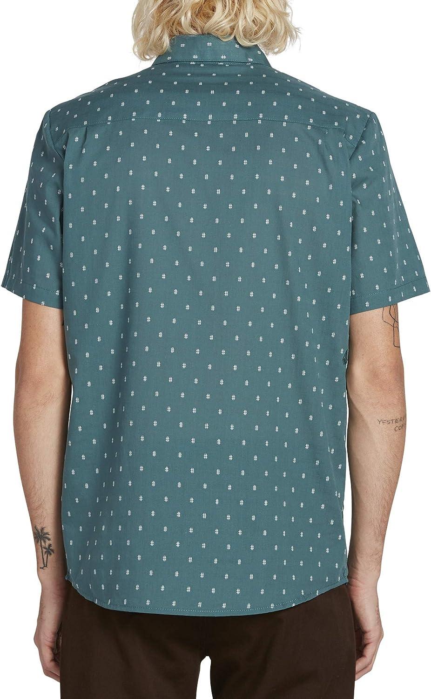 Volcom Mens Newmark Button Up Short Sleeve Shirt