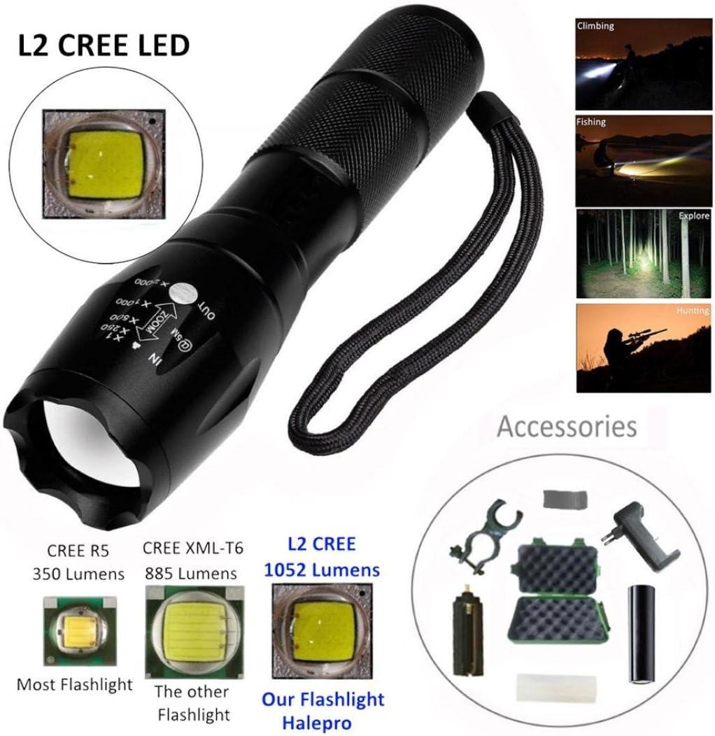 Lampe de poche LED 1000/Lumens zoom Bar XML L2/lampe de poche LED Case by huichang batterie Support chargeur