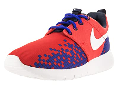 Infants Nike Roshe One Print - 749358601 Red Blue Trainers TD