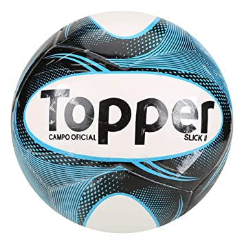 Bola Futebol Campo Topper Slick Ii - Branco+preto - Único  Amazon ... bbb21ea8e3a7e