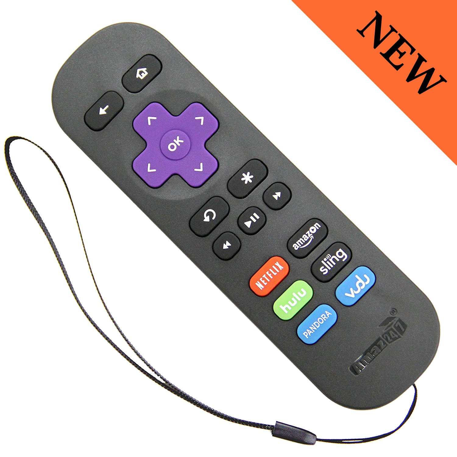 Amazon Amaz247 Arcbzb Replacement Remote For Roku 4321 Hd