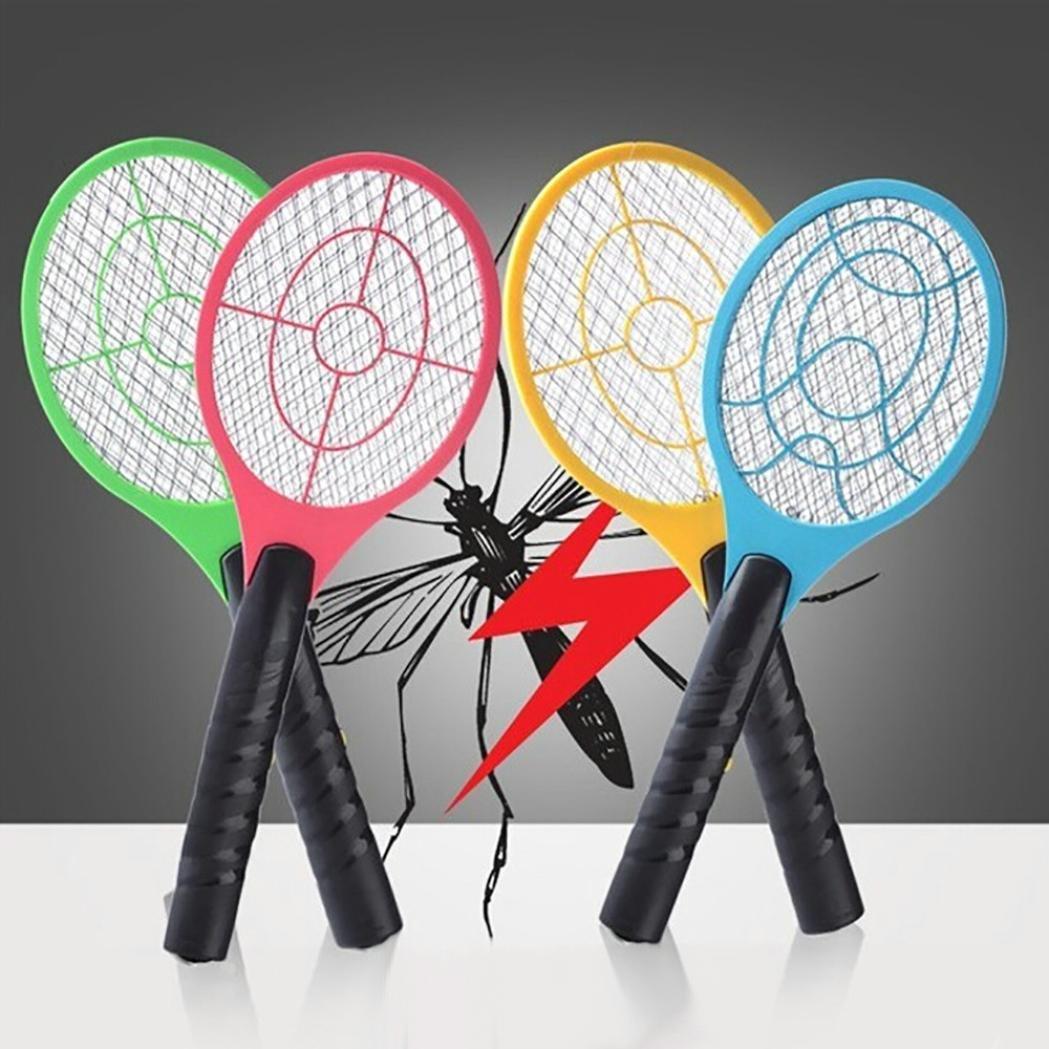 Bate de tenis eléctrico de forma preventual, nuevo creativo matamosquitos eléctrico bate de tenis de mano raqueta insectos mosca insectos avispas Swatter, Random Colour Prevently