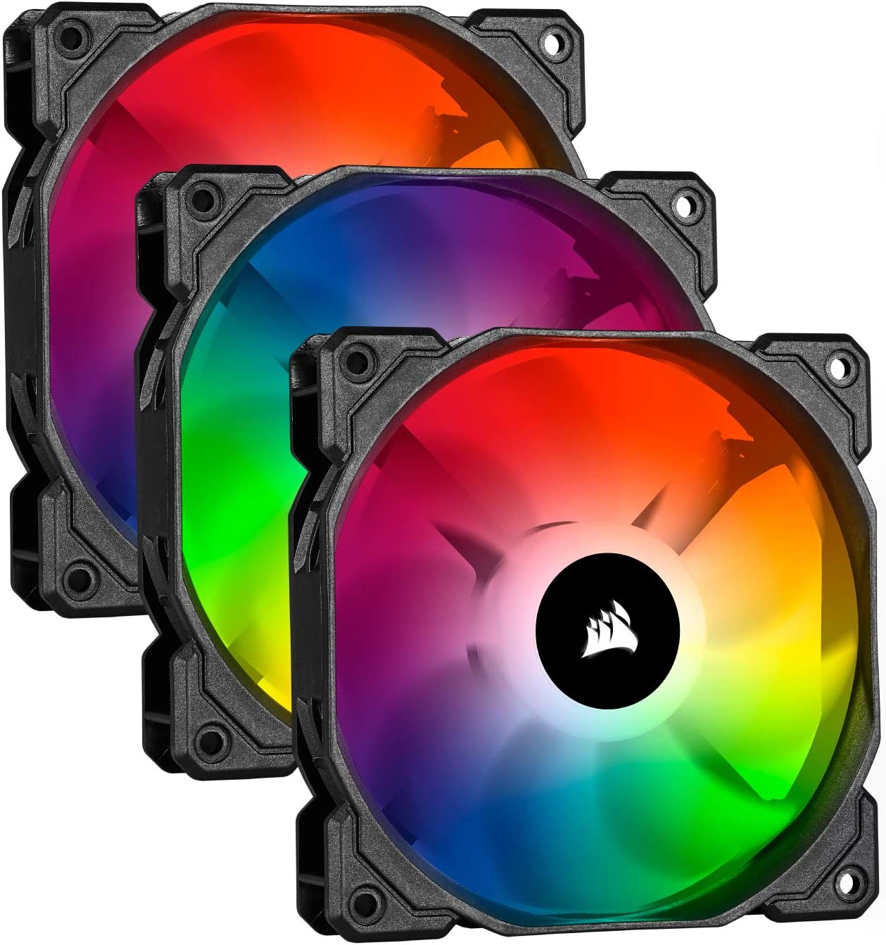 Corsair iCUE SP120 RGB PRO - Ventilador de chasis de 120mm, Silencioso, de Flujo de aire elevado, Paquete Triple