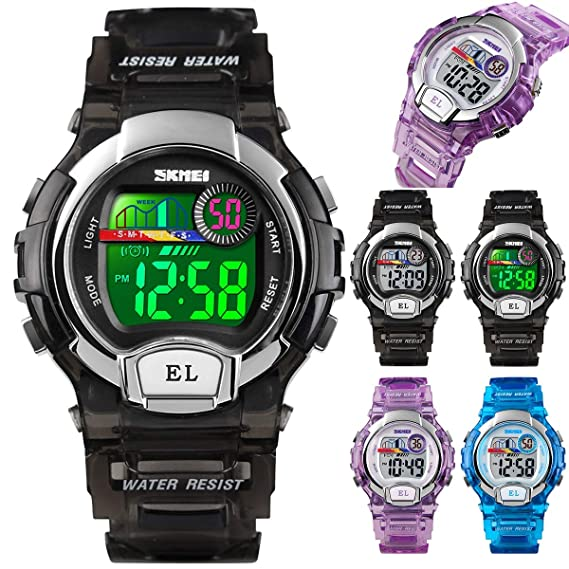 Amazon com: Transparent Shell Sports Watch Water Resistant
