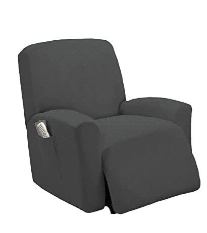 Golden Linens One piece Stretch Recliner Chair Furniture Slipcovers with Remote Pocket Fit most Recliner Chairs  sc 1 st  Amazon.com : slipcovers for recliner chairs - islam-shia.org