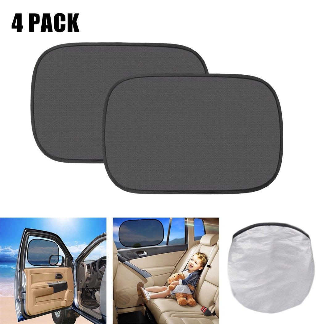 Fansport 4PCS Car Window Shade Side Window Sunshade Creative Static Cling UV Protective Car Window Shield