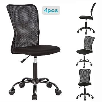 Amazon.com: 4 sillas de oficina de malla.: Kitchen & Dining