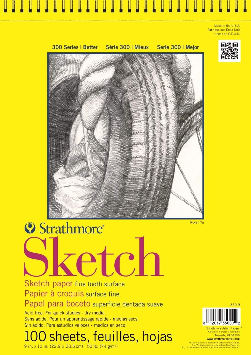 Strathmore 300 Series Sketch Pad, 11x14, Wire Bound, 100 Sheets: Arts, Crafts & Sewing