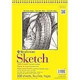 Strathmore 350-9 300 Series Sketch Pad, 9x12, White, 100 Sheets