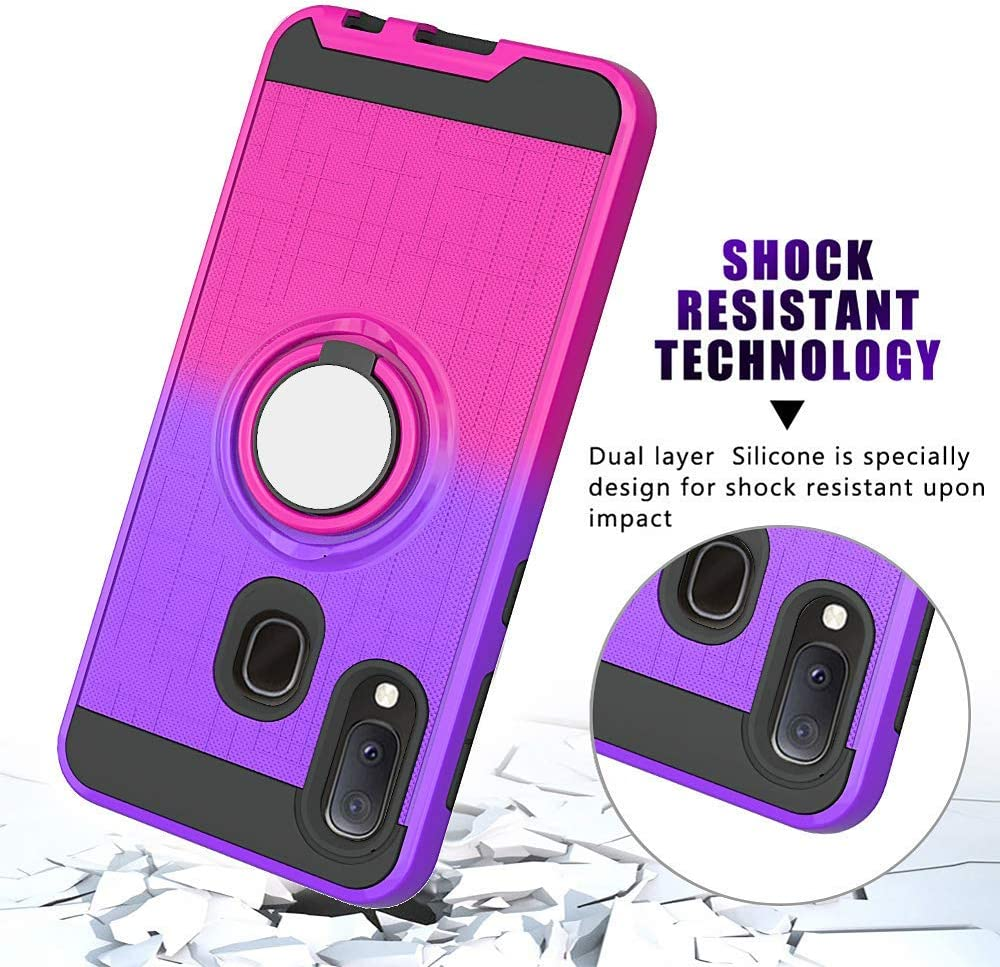 Compatible with LG Stylo 4 Case,Q Stylus Phone Cover 360 Degree Rotating Ring Holder Kickstand Armor Heavy Duty Shockproof Bumper Anti-Scratch Dual Layer Bracket Protective Fit Magnetic Car Mount