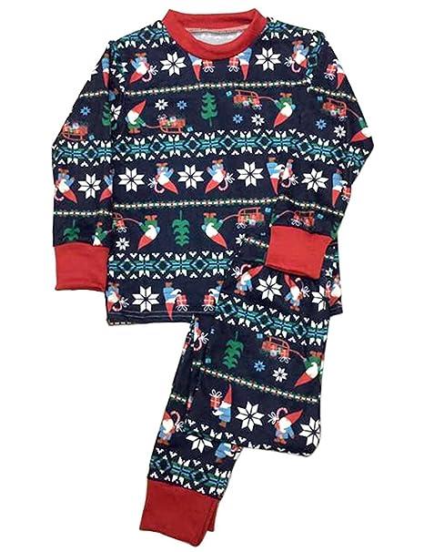 FastDirect Set de 2 Piezas Pijama de la Mujer Ropa de Dormir Familia de Navidad Moose
