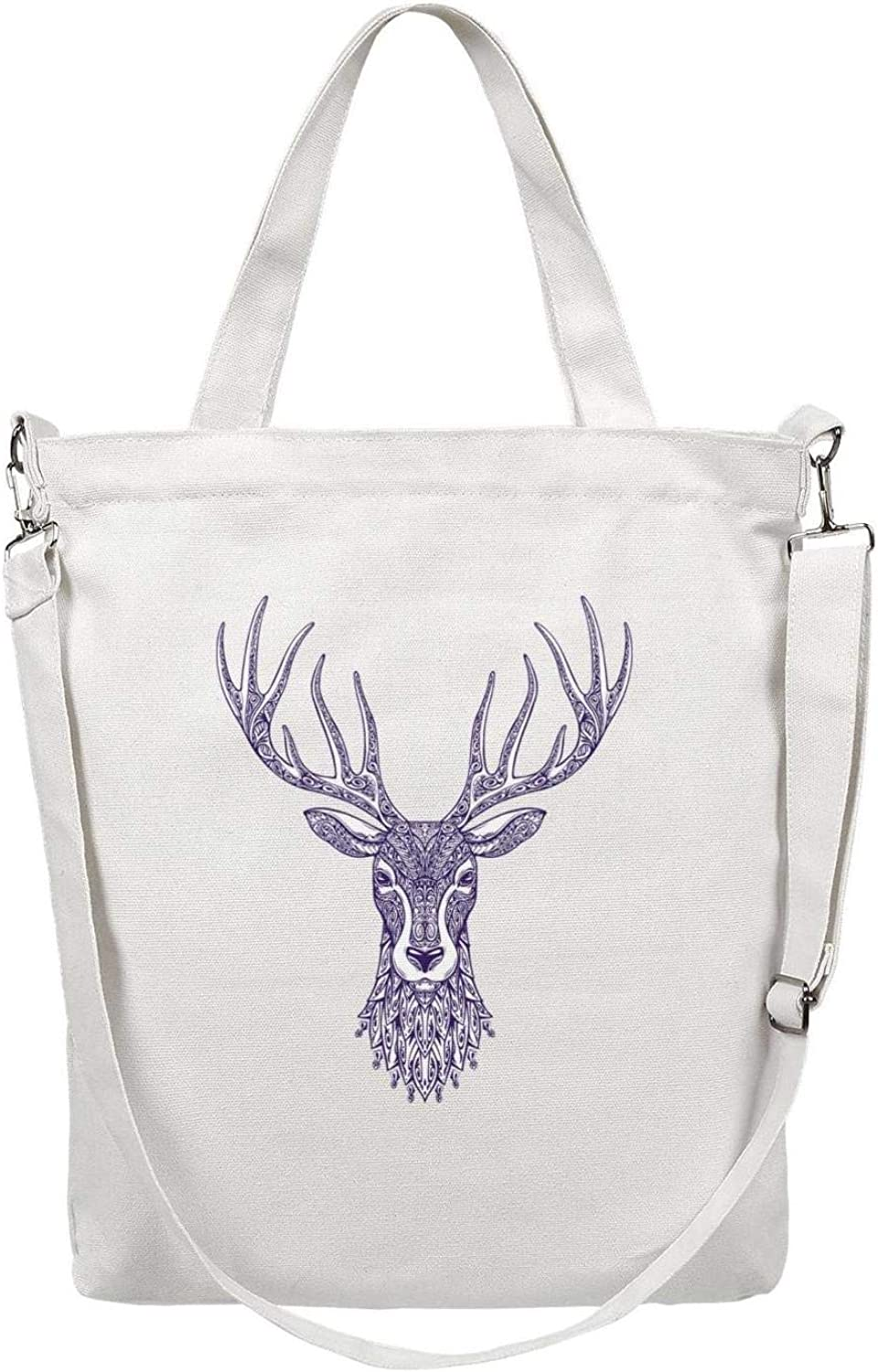 or Travel School Deer on Blue Watercolor Background Tote bag  Gifts for Her  Carries up to 44 lbs  Great for Work
