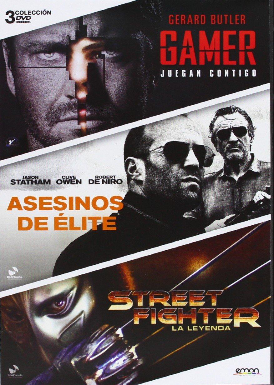 Pack: Gamer + Street Fighter + Asesinos De Élite DVD: Amazon.es: Gerald Butler, Michael C, Hall, Jason Statham, Clive Owen, Robert De Niro, Neal McDonough, Andrzej Bartkowiak, Gary M, Gerald Butler, Michael