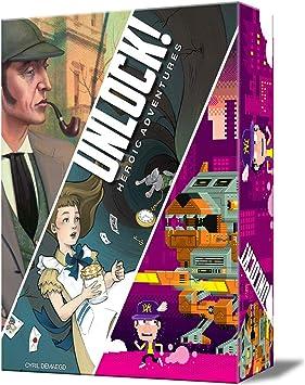 Asmodee-Unlock Heroic Adventures-Juego de Mesa-Español, Color (SCUNL05ES): Amazon.es: Juguetes y juegos