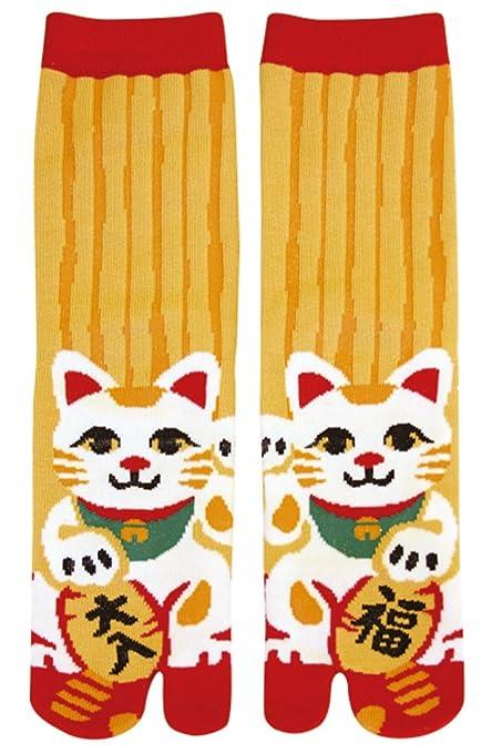 Japanese Samurai Ninja Tabi Socks; Lucky Cat