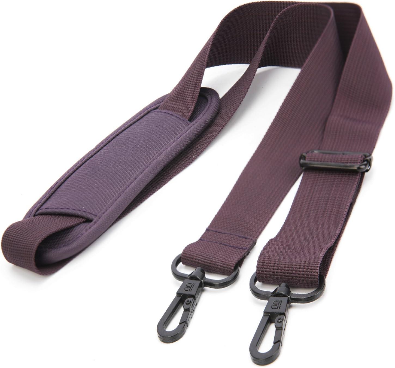 BRINCH Adjustable Thick Soft Universal Replacement Shoulder Strap for Laptop Case Computer Bag Luggage Duffel Messenger Bag,Purple