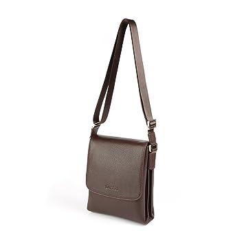 Carteras de diseñador de cuero genuino OTTO, Bolsa de mensajero unisex, Bolso clásico de hombro, Bolso de viaje, 34 cm (Marrón): Amazon.es: Equipaje