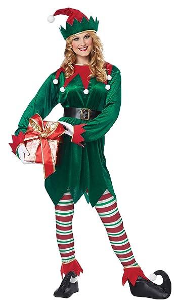 Amazon.com: California Costumes Christmas Elf Adult, Green/Red,  Small/Medium: Clothing - Amazon.com: California Costumes Christmas Elf Adult, Green/Red