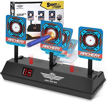 Oferta amazon: Keten Objetivo Digital Electrónico para Pistolas Nerf con Restablecimiento Automático, Efectos Inteligentes de Sonido y Luz, para Nerf N-Strike Elite/Mega/Rival Series (Solo Objetivo)