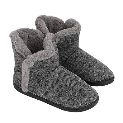 153cf8316af5 Men Snow Boots Hiking Ankle Bootie Men's House Slippers Socks Dorm Slippers  Novelty Bed Winter Warm Slipper Boots Non Slip Indoor Bedroom Slippers ...