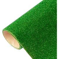 Yamix Model Grass Mat Artificial Train Grass Mat Turf Lawn Paper for DIY Train Railroad Scenery Landscape Decoration, 41…
