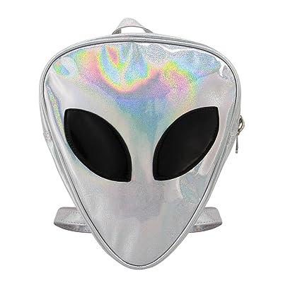 Candice Women Transparent Aliens Holographic Shoulder Bag Satchel Backpack