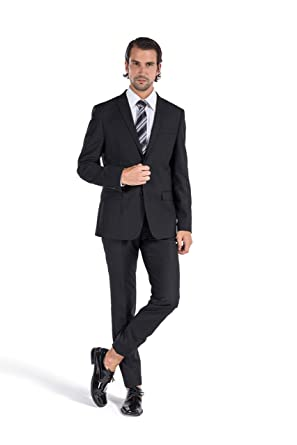 73b0878f44938f Milano Vichee Men's Suit Slim Fit Pick Lapel Two Button 2 Pieces Set  (Jacket+