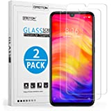 [2 Pack] Xiaomi Redmi Note 7/ Note 7 Pro Screen Protector, OMOTON Redmi Note 7/ Note 7 Pro Tempered Glass with [HD Definition] [Crystal Clear] [Anti-Fingerprints]