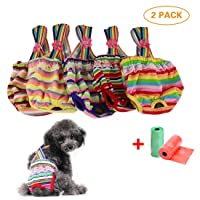 TVMALL Dog Diapers Sanitary Pants Washable Reusable with Pet Dog Cat Physiological...