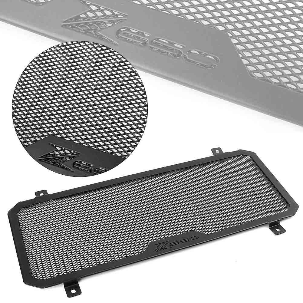 GZYF Carcasa protectora de aluminio para parrilla de radiador Kawasaki Z650 DMV 17-18 color negro