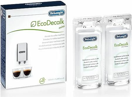 DeLonghi Ecodecalk Mini Descalcificador universal, cafeteras superautomáticas, pack x2, 100 ml, componentes naturales, compatible modelos ETAM / ECAM: Amazon.es: Hogar