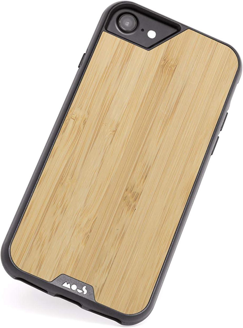 Mous - Coque de Protection pour iPhone SE/8/7/6S/6 - Limitless 2.0 - Bois de Bambou - Protection d'écran Incluse