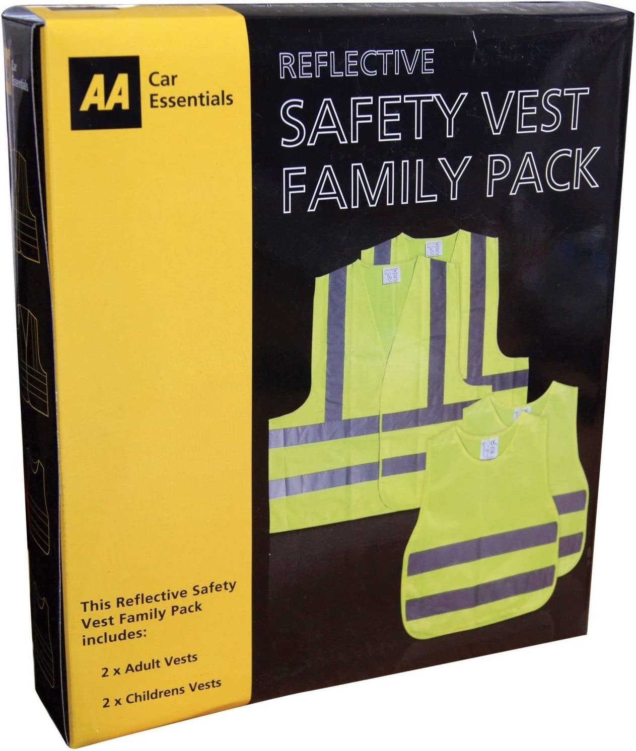 Global Accessories Aa Car Essentials High Visibility Vest Family Pack Amazon Co Uk Car Motorbike