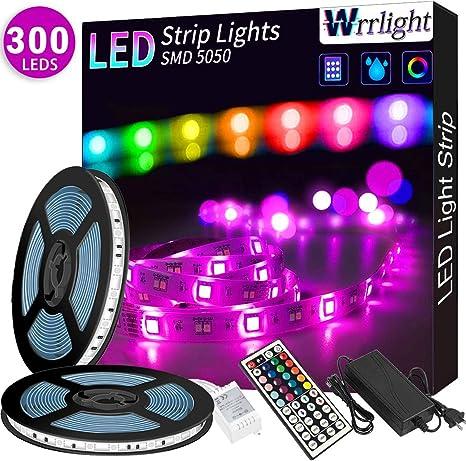 Led Strip Lights 32 8ft 10m 300 Leds Waterproof Rgb Light Strip Kits With Remote For Room Bedroom Tv Kitchen Desk Color Changing Light Strip Kit
