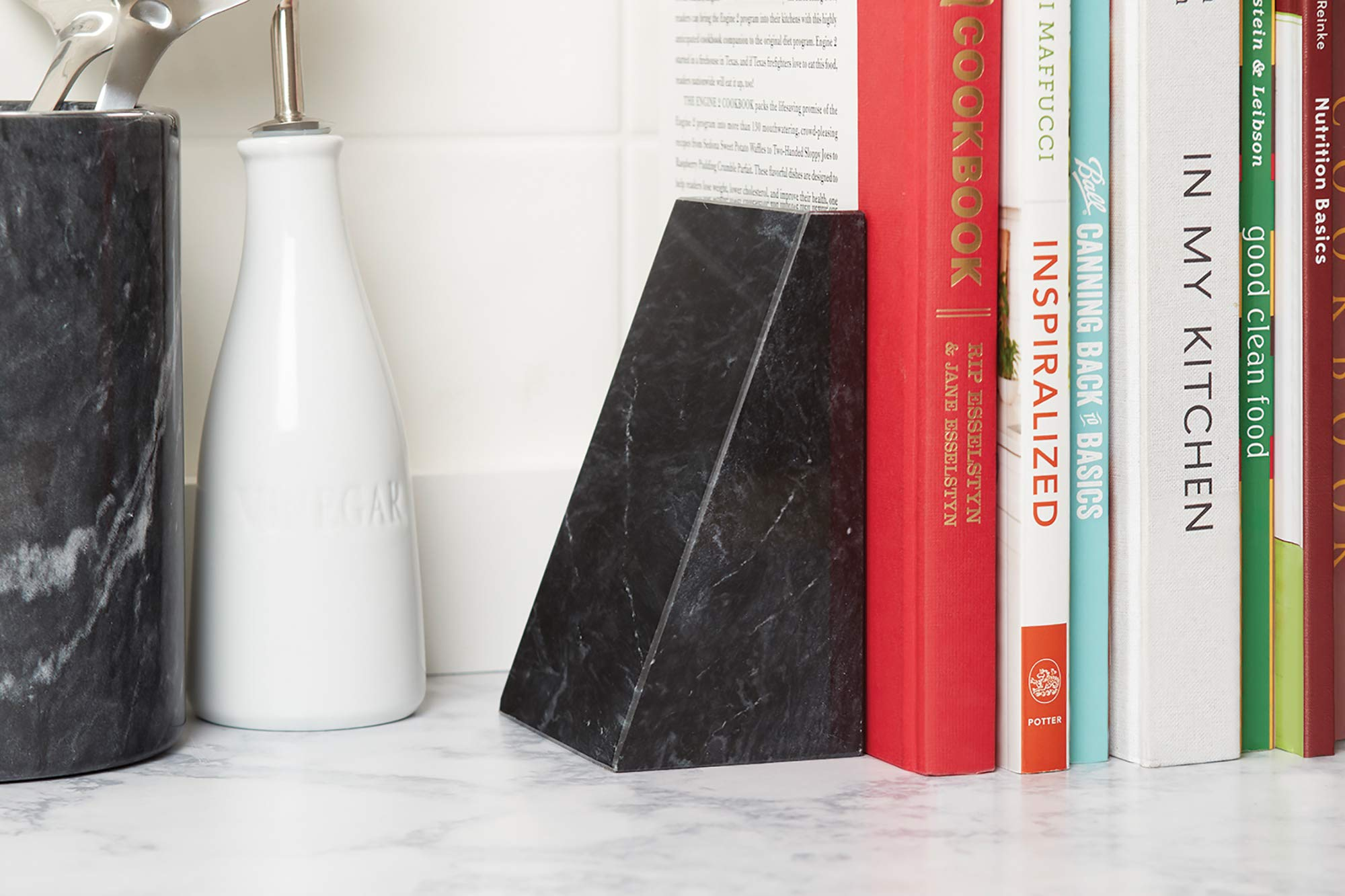 Fox Run Triangular 100% Natural Polished Black Marble Bookends by Fox Run (Image #3)