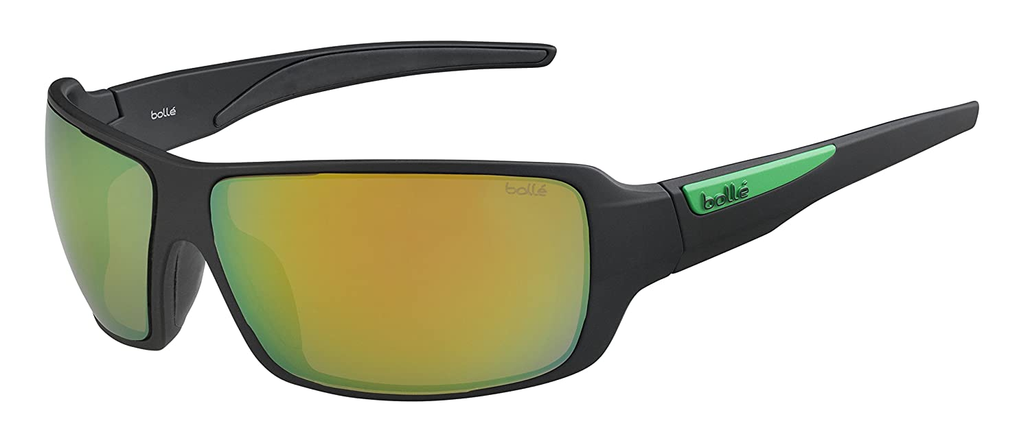 Matte Black Bolle Cary Polarized Brown Emerald